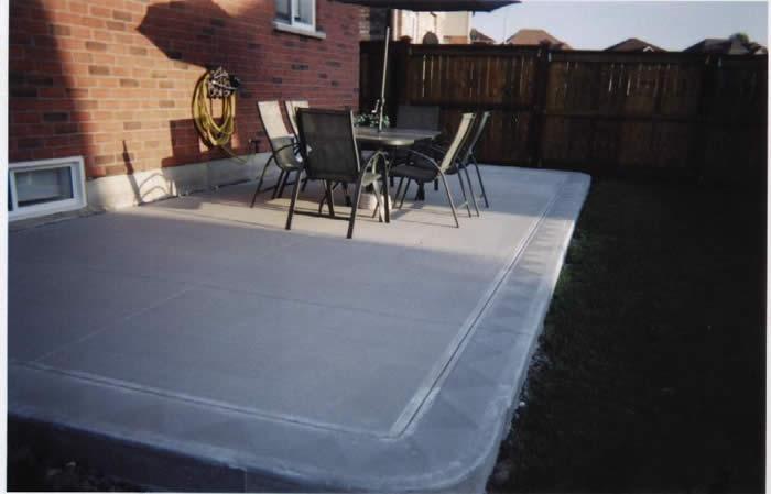 plain concrete patios 4 sons concrete design patio13 patio