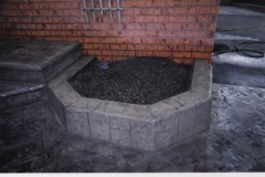 Stamped Concrete - FlowerBed - 4 SONS CONCRETE DESIGN